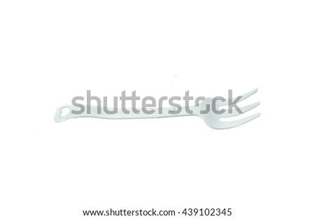 plastic forks - stock photo