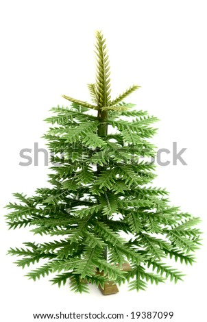 Plastic fur-tree on a white background  isolated