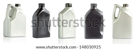 Plastic gallon isolated on white background