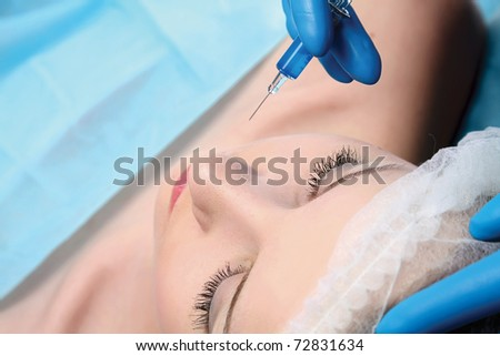 plastic injection - stock photo