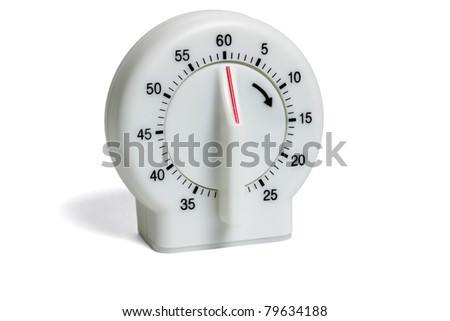 Plastic kitchen timer isolated on white background