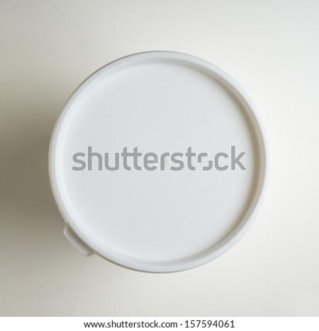 Plastic lid top - stock photo