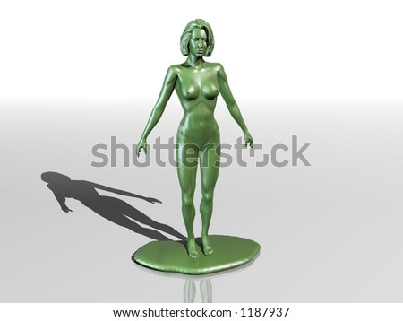 plastic model naked female - stock photo