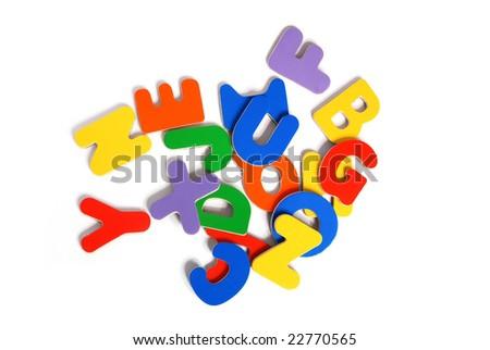Plastic multicolored alphabet - stock photo