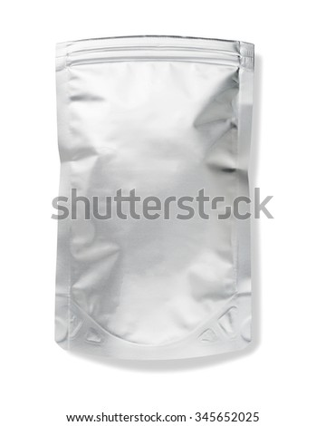 plastic package isolated on white background - stock photo