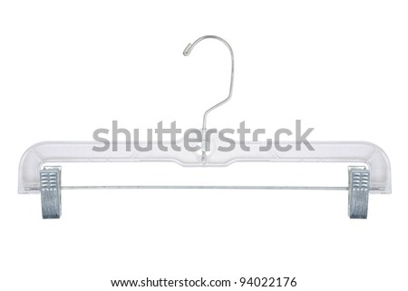 Plastic Pants Hanger - stock photo
