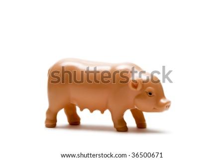 Plastic Pig - stock photo