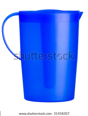 plastic pitcher - stock photo