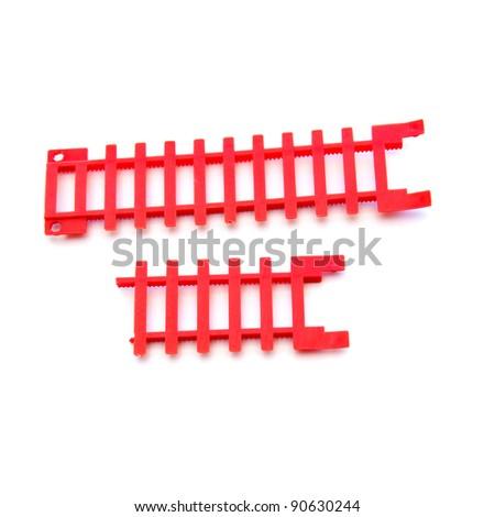 Plastic rails  isolated on white background - stock photo