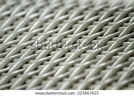 Plastic rattan weaving texture - stock photo