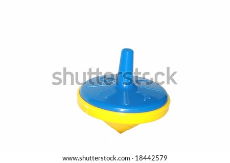 Plastic spinning top - stock photo