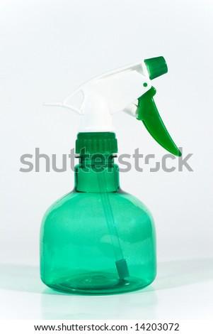 Plastic spray bottle (for liquids) - stock photo