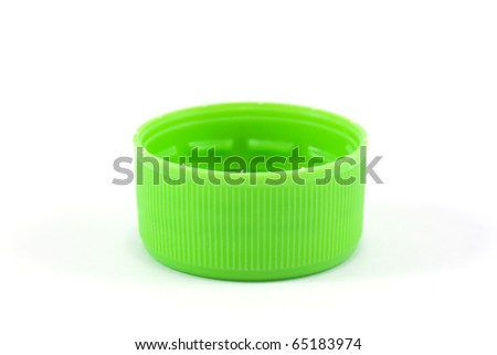 plastic stopper top cover single on white background - stock photo
