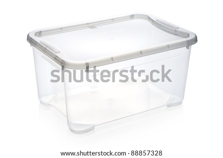 plastic storage box plastic container isolated on white cm h