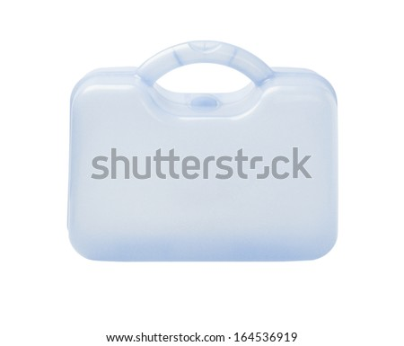 Plastic Storage Container On White Background - stock photo