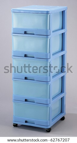 Plastic Storage drawers for convenience shot in a studio. - stock photo