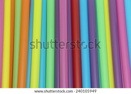 Plastic straw background texture