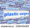 Plastic surgery message conceptual design. Cosmetic surgery poster design - stock photo