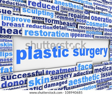 Plastic surgery message conceptual design. Cosmetic surgery poster design