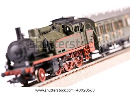 Plastic Train model - stock photo