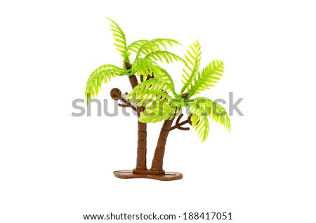 plastic Trees isolated on white with clipping path