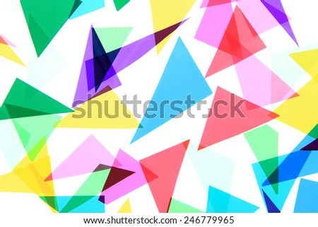 plastic triangles photo (on the white background) - stock photo