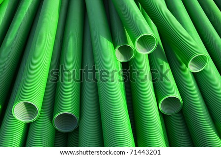 plastic tubes industry - stock photo