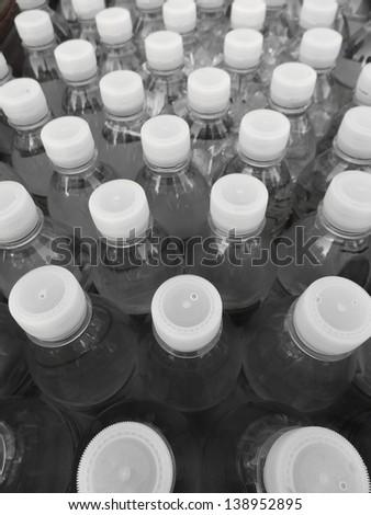 Plastic water bottle - stock photo