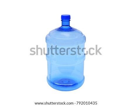 Plastic water container isolated on white