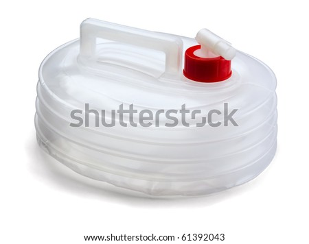 Plastic  water  folded  collapsible container - stock photo