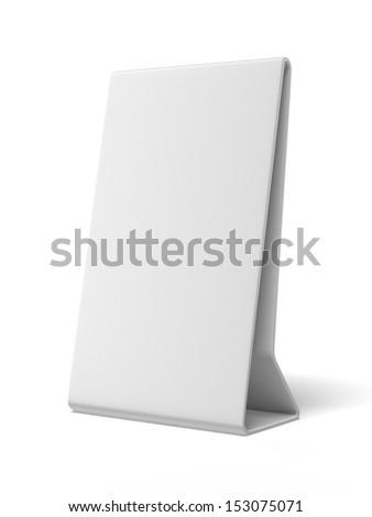 Plastic white ad plate - stock photo