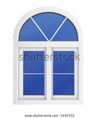 Plastic window isolated for private construction template with clipping path included