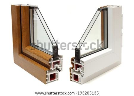 plastic windows profile - stock photo