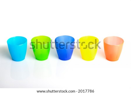 Plastic with many colors - stock photo
