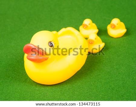 Plastic yellow duck toy - stock photo