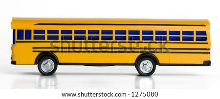 Plastic Yellow Toy School Bus