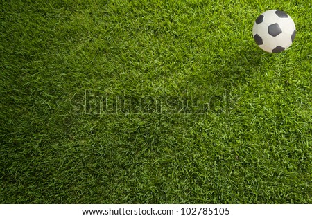Plasticine Football on grass background
