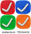 Plasticine icon set isolated on a white background - stock photo