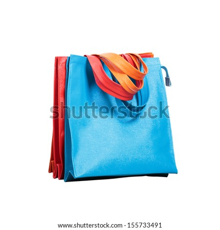 Plastics shopping bag with clipping path on white background