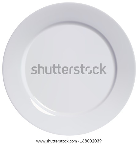 Plate empty, isolated. Illustration - stock photo