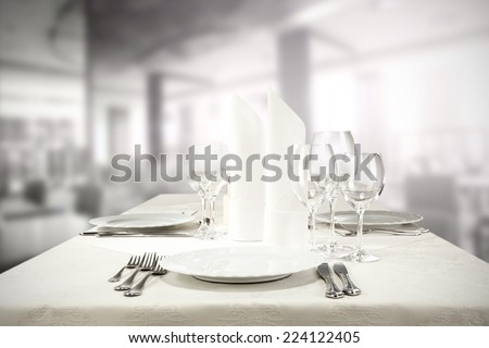 plate in restaurant  - stock photo
