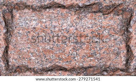 Plate of a red marble with jagged edges, background of marble, plate with jagged edges - stock photo