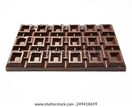 Plate of chocolate - stock photo