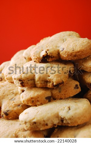 Plate of cookies (shallow DOF) - stock photo