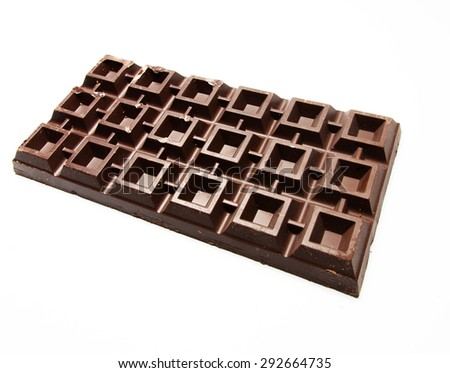Plate of giant chocolate - stock photo