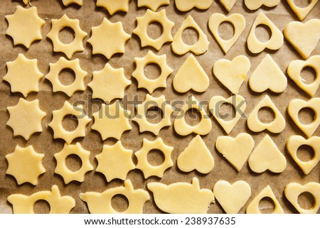 Plate of Traditional Czech Christmas Pastry  Baking - stock photo