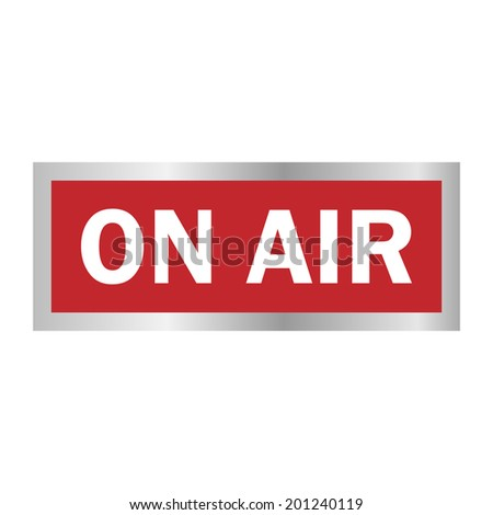 Plate. On air - stock photo