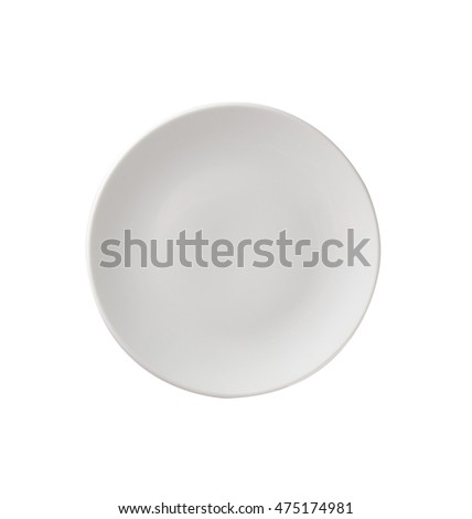 plate or empty plate on a background
