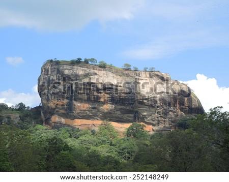 Plateau of Sigiriya, Sri Lanka - stock photo