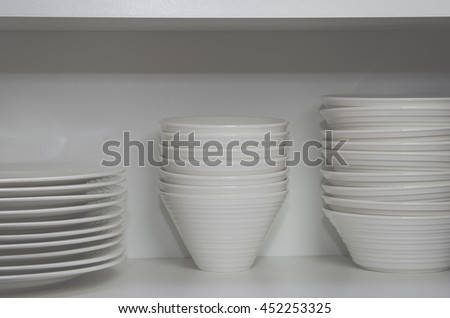 Plates and bowls - stock photo